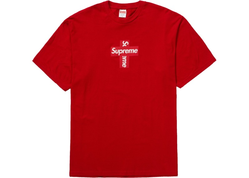 supreme-cross-box-logo-tee-red