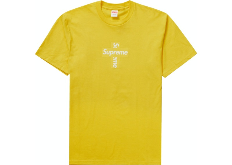 supreme-cross-box-logo-tee-yellow